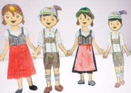 Corona Personal Branding Kinder in Tracht