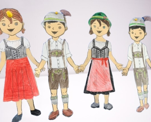 Corona Personal Branding Kinder in Tracht
